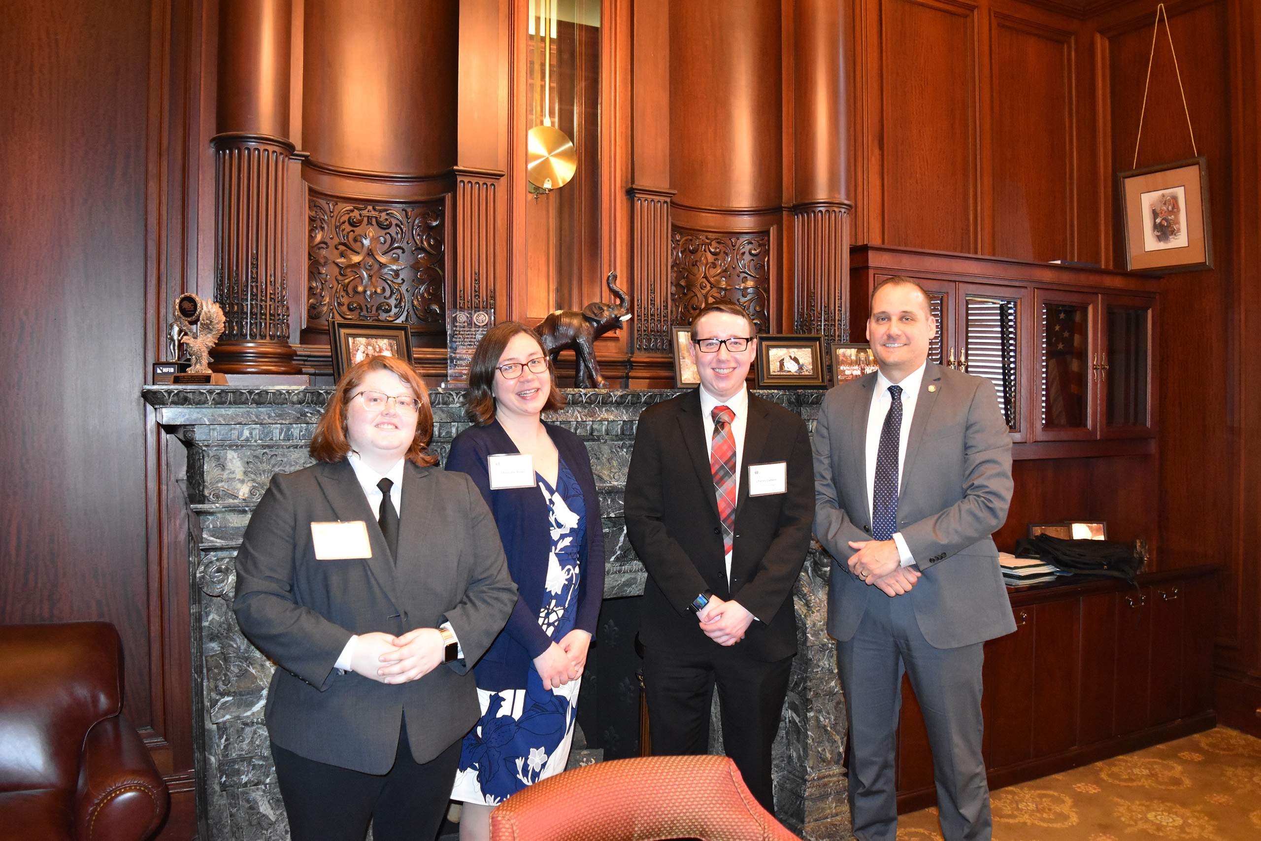 Group of students at AICUP Student Advocacy Week